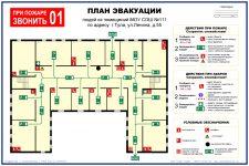Схема эвакуации при пожаре образец