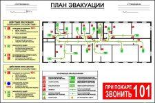 Где должен висеть план эвакуации при пожаре