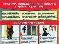 Правила поведения при пожаре в квартире ОБЖ