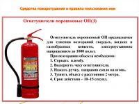 Огнетушительные средства и правила их применения