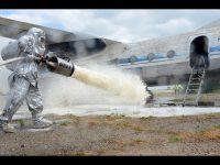 Тушение пожаров летательных аппаратов на земле