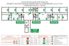 План эвакуации школы при пожаре образец
