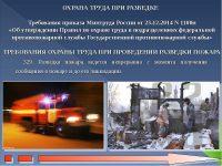 Требования безопасности при проведении разведки пожара